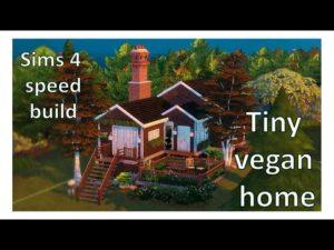 VEGAN-FRIENDLY COZY TINY HOME 🐶 Sims 4 Speed Build