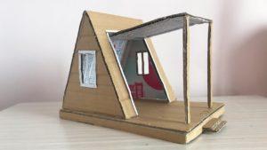 Velmi jednoduchý kutilství, jak si vyrobit domeček A-Frame