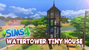 Vodárenská věž malý dům The Sims 4: Speed Build