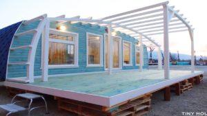 Úžasný obloukový dům design_type_2 Tiny House Shell na nadaci | Nádherný malý dům