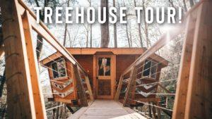 * šílený * TINY HOME V TREES! | Plná Airbnb Treehouse Tour