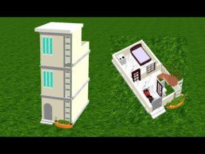 10 * 20 moderní design domů, 10 * 20 malý dům plán, přední elevace