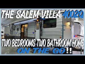 2021 Salem Villa 4002Q Cílový přívěs NEBO Drobný domov? 2 Queens 2 Full Baths @ Couch & RV Nation