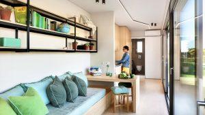 Absolutně současný domov pro kontejnery Nomad z modulů Cocoon Malý dům velké bydlení