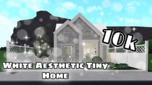 Bloxburg: No Gamepasses White Estetical Tiny Home // Rychlost sestavení // 10k // # 15