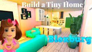 Bloxburg Speed Build - Bloxburg Build - Bloxburg Tiny House (růžová a šedozelená)