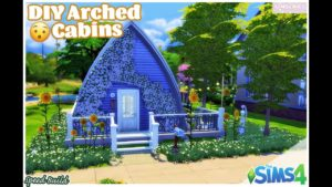 DIY ARCHED CABINS?! 🤔🏠 || SpeedBuild ~ The Sims 4 ~ Tiny Home