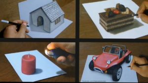 #Drawings #Tricks #Art Drawing {3D} Malý dům na papíře Nový domovský papír na kreslení Indian_America_China