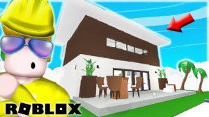 Jak postavit elegantní moderní malý dům v Adopt Me Me! Vysoký strop, přízvuková zeď, nástěnné umění (Roblox)