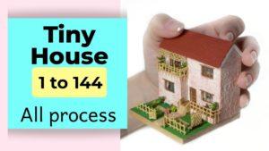 Jak si vyrobit malý dům 1/144 || Celý proces