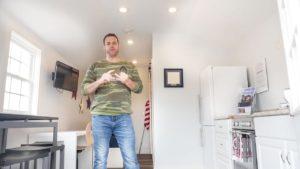 Malá komunita komunity postavená pro veterány bez domova - přehled rozložení bydlení