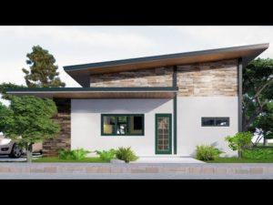 Malý dům Design s podkroví 10,5x5 (70 SQM) PLNÝ PLÁN