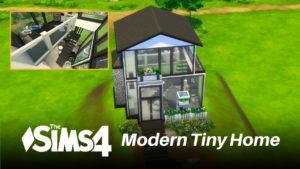 Malý dům na kopci Černobílý | Sims 4 Speed Build No CC