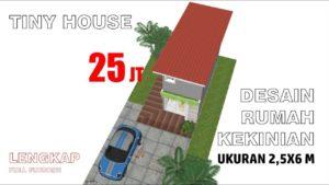 Malý domeček malého domu Design 2,5 x 6 metrů