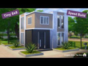 Mini dům 32 - Malý dům - 8x8 - The Sims 2