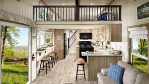 Nejpůsobivější série Kropf Lakeside od společnosti Kropf Park Model RV   Malý dům velké bydlení