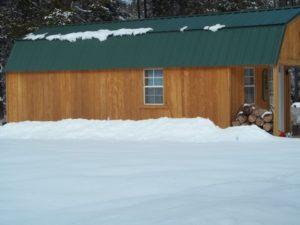 Obývací dům v chatě v zimě 2015 je DOBRÝ !!!!!