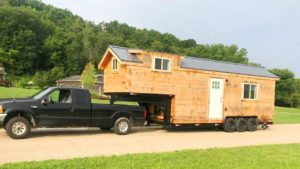 Rustikální krásný Amish postavený plný log Tiny House   Krásný malý dům