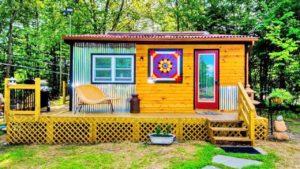 Rustikální nádherný Catskills malý dům s velkým venkovním nastavením Krásný malý dům