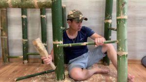 Vytvořte bambusové schody pro můj malý dům - (Vytvořte bambusové schody pro domy na ostrově)