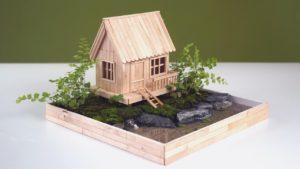 Vytvořte nádhernou krajinu s malým domem - nejlepší kutilství během uzamčení
