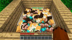 nutí 100 hráčů Minecraft k životu v malém domě ...