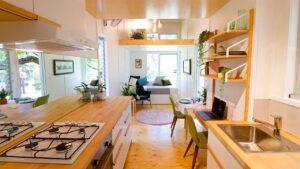 Úžasná dostupnost SWALLOWTAIL KOMPLETNÍ TINY DŮM NA KOLE PODLE SPOLEČNOSTI TINY HOUSE