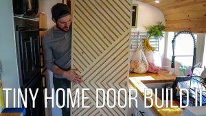 Úžasné dveře Chevron TINY HOME. JAK vytvořit dveře s téměř žádnými zkušenostmi!