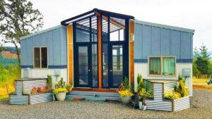 Úžasný The OHANA Two 24 & # 39; Drobné domy spojené s terasou Sunroom mezi nimi