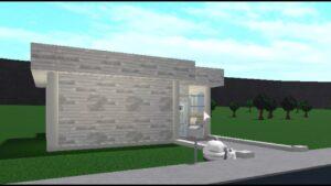 (část 2) Bílý a modrý malý dům (45 000 Bloxburg Cash)