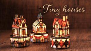 【レジン×アイシングクレイ】LED 小さなお家 DIY Tiny houses with LED [Resin x icing clay]