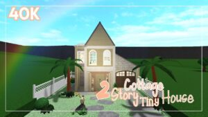 2 Story Cottage Tiny House   SpeedBuild   BloxBurg   40 kB