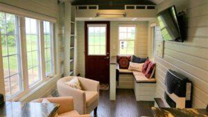 24 ft malý dům na přívěsu - profesionálně postavený a zkontrolovaná třetí strana Krásný malý dům