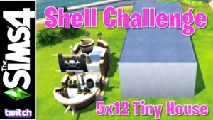 5x12 Tiny Home Challenge | Květen 2020 Shell Challenge | The Sims 4 (Twitch Replay)
