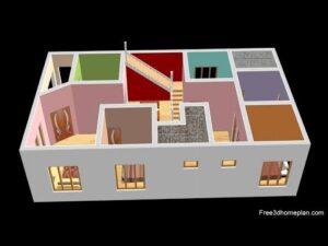 8x15 metrů malý dům plán pro 17 Lac 4 ložnice s americkou kuchyní 2020