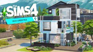 Budování trojitých ECO TINY HOUSES s mnoha žebříky The Sims 4: Eco životní styl