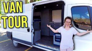 Cestování Van Tiny-Home Tour || Převedený Promaster Camper