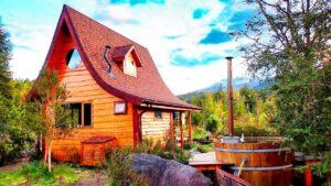 Chalupa se solárním pohonem a vířivkou na dřevo: Chile | Krásný malý dům