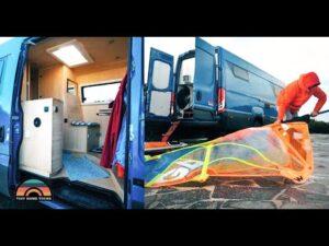 DIY Iveco Euro Camper Van Tour - profesionální windsurfové & # 39; Malý dům na kolech