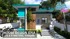 Design malého domu (6x9 metrů, 54 m²)