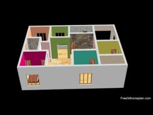 Design malého domu o rozměrech 9x14 metrů pro 20 lac 3 ložnice v americké kuchyni s parkováním CAR 2020