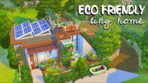 Eco Friendly Tiny Home 🌿 // Sims 4 Speed Build