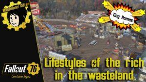 Fallout 76 C.A.M.P. Vybudovat / Tiny Home Raider Village