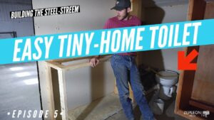 How-to Tiny Home Toilet | Steel Stream Episode 5: Instalace toalety / nádrže