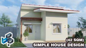 Jednoduchý design malého domu (7x6 metrů) (42 SQM) | Nízké náklady | Středomořském stylu