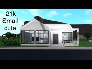 Malý světle zelený malý dům (speed build) roblox bloxburg