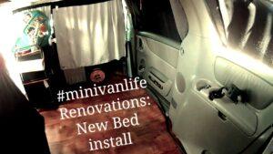 Minivan Tiny Home Pandemic Renovations: Instalace nové postele