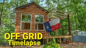 Off Grid Tiny House Build Timelapse - Crockers - Chicken Coop - Goat Shelter