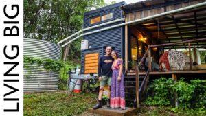 Off-The-Grid Tiny House & Ohromující Syntropic Food Forest Forest Gardens