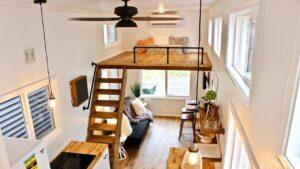 Ohromující nádherná The 26 & # 39; Chateau Shack Tiny Home na kolech Životní Design Pro Malý Dům